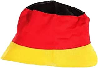 elasto Fanhut Sparkle Deutschland Glitzer-Hut mit Pailetten Partyhut Fanartikel Schwarz-Rot-Gold