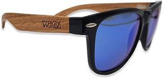 sprengers - Gafas de sol de madera con espejo   Unisex   Madera   Modernas   Polarizadas   UV 400