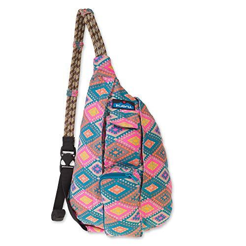 KAVU Damen Mini Seil Tasche Rhombus Teppich ohne Größe