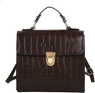 Waymine Women's Vintage Messenger Bag Crocodile Pattern Square Shoulder Bag Handbag Phone Coin bag Packet