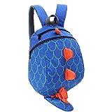 YUHUAWYH Mochila Infantil Anti-perdida Bolsa de Cinturón de Seguridad para Niños Bolso de la Forma del Dinosaurio Mochila para Niños Niñas 1-5 Años (Azul)