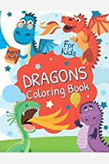 Dragons Coloring Book for Kids Ages 4-8: Coloring, Spot Difference, Mazes, Puzzles for Kids (Activity Book for Kids Ages 4-8, 5-12) Paperback