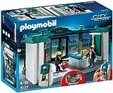 PLAYMOBIL Policía - Banco con Caja Fuerte, Juguete Educativo, 40 x 12,5 x 30 cm, (5177)