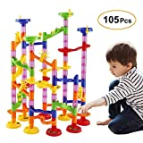 WloveTravel Circuits de Billes,105 Pièce Marble Run Railway Jouet DIY Blocs de...