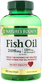Nature's Bounty Fish Oil 2400 mg with 1200 mg Of Omega 3-90 Softgels