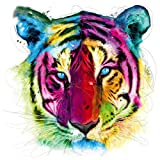 DIY 5D Diamond Painting Kits for Adults Full Drill, Tiger Animal Rhinestone Embroidery Cross Stitch Pictures Arts Craft Home Wall Decor 11.8x11.8 inch
