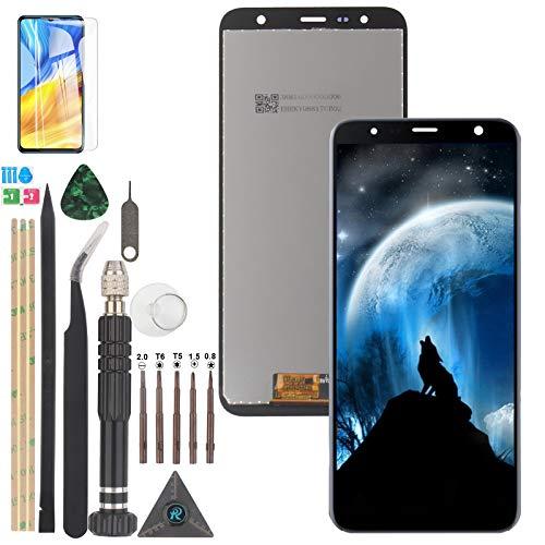 YWL-OU para Samsung Galaxy J6 Plus J610 J4 Plus 2018 LCD Pantalla y Digitalizador y para J415 J4 Core j410 Pantalla Táctil con Herramientas (Negro)