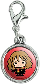 GRAPHICS & MORE Harry Potter Cute Chibi Hermione Character Antiqued Bracelet Pendant Zipper Pull Charm with Lobster Clasp
