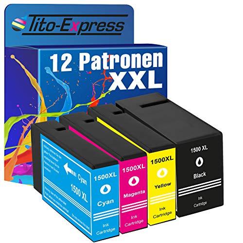 Tito-Express Platinum Serie 12 Cartuchos de Tinta XXL compatibles con Canon PGI-1500XL PGI-1500 XL | For Maxify MB-2000 MB-2050 MB-2100 MB-2150 MB-2155 MB-2300 MB-2350 MB-2700 MB-2750 MB-2755