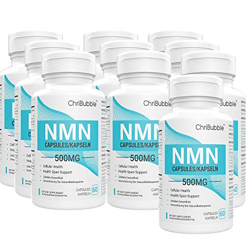 NMN Stabilized Form Supplement, Supports NAD, Longevity & Energy, 500mg Per Serving (Nicotinamide Mononucleotide) (10 Pack 600 Capsules)
