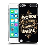 Official Harry Potter Words Magic Dumbledore Quote Deathly Hallows XIV Hard Back Case Compatible for Apple iPod Touch 5G 5th Gen