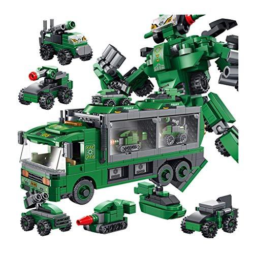 Ingénierie Camion de Pompiers Ensemble de véhicules, Grand Inertie Toy modèle de Voiture Deformable, Jouet for garçons Plus de 3 Ans (Color : Green)