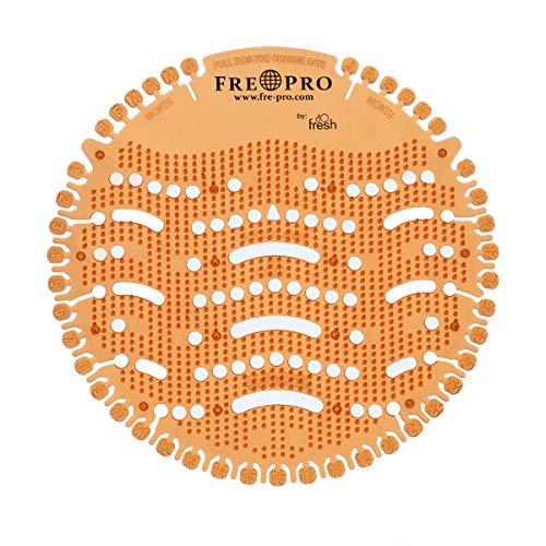 Fre-Pro Urinalsieb Geruchsneutralisator WAVE Mango (orange)| Wohlriechend Fresh Siebe | Spritzschutz | Verringerung der Schmutzablagerung, Reinigungszeitverkürzung |100% recyclebar