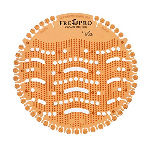 Fre-Pro Urinalsieb Geruchsneutralisator WAVE Mango (orange)| Wohlriechend Fresh Siebe | Spritzschutz | Verringerung der Schmutzablagerung, Reinigungszeitverkürzung |100{ca7c78276cc1cd1d07a82f555021d931922d7b15260966449b35596bf7568ff1} recyclebar