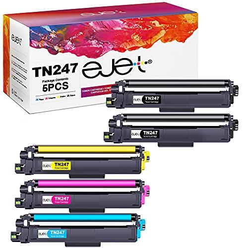ejet TN247 TN243 Toner Kompatibel für Brother TN-247 TN-243 tn-243cmyk für Brother MFC-L3770CDW MFC-L3750CDW HL-L3230CDW MFC-L3710CW HL-L3210CW DCP-L3550CDW MFC-L3730CDN HL-L3270CDW DCP-L3510CDW