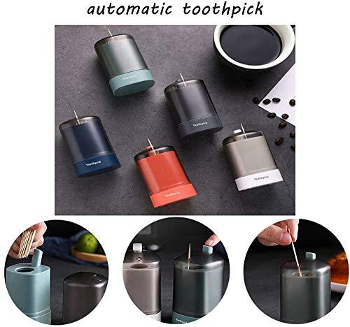 Mzthkly Automatische Push-Type-zahnstocher-halterbox, Abnehmbarer Aufbewahrungsspender für Zahnstocher, für den Küchenschrank mit Küchengeräten im Heimrestaurant (Weiß)