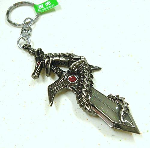 魔界のドラゴン夜光剣キーホルダー ブラック