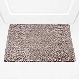 BRICOVEO Welcome Doormat Front Entry – Mud Indoor Door Mat 18x28 Inch – Ultra Absorbent Door Mat – Thin Doormat with Non Slip PVC Backing – Easy Clean – Ideal for Home Entrance, Garage, Office