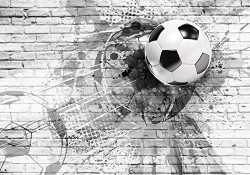 decomonkey Fototapete Fußball 150x105 cm Design Tapete Fototapeten Vlies Tapeten Vliestapete Wandtapete moderne Wand Schlafzimmer Wohnzimmer Kinderzimmer Jugenzimmer Ball