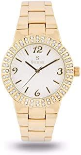 Sunex Women's Watch Analog Gold Stainless Steel White Dial S0366GW