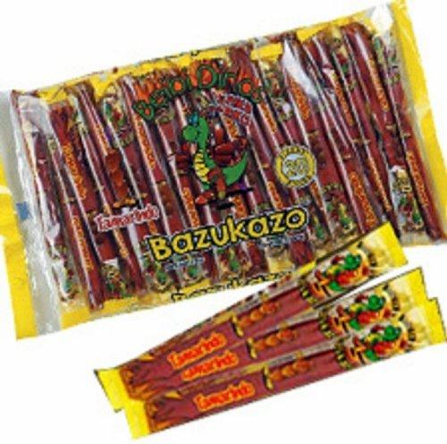 Bazukazo Tarugos Tamarindo Con Chile Mexican Tamarind Candy Sticks 20 Pieces New Sealed