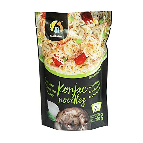Hethstia Shirataki Konjac Noodle- Spaghetti Pasta Alternative, Zero Carbs/Calories, Gluten/Soy Free, Keto/Vegan Friendly (9)
