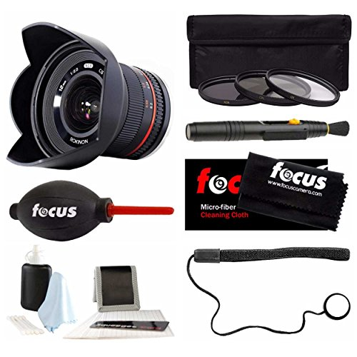 Rokinon 12mm F2.0 NCS CS Ultra Wide Angle Lens Sony E-Mount (NEX) (RK12M-E) & Photo Accessories Bundle