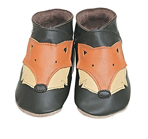 Foxy chocolat Starchild cuir souple chaussures de bébé (petit 0-6 mois EU 18 UK 2)