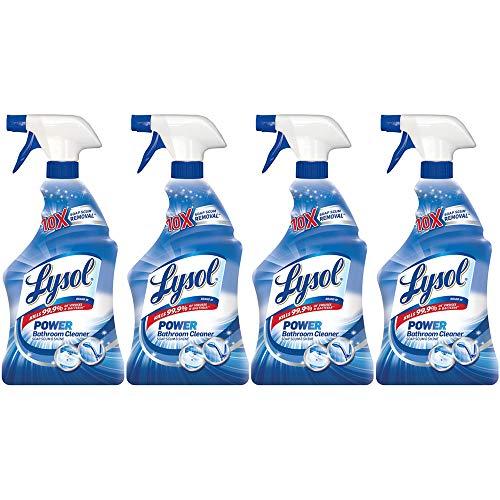 Lysol Power Bathroom Cleaner Spray, Island Breeze, 22oz (Pack of 4)