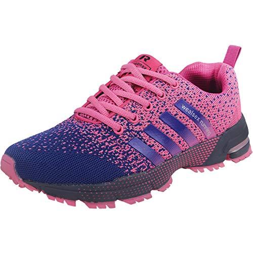 Wealsex Zapatos para Correr En Montaña Asfalto Aire Libre Deportes Zapatillas De Running para Mujer (púrpura,39)