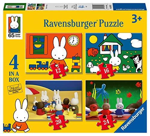 Ravensburger 30453 Nijntjes Verjaardag 4In1Box Puzzel - 12+16+20+24 Stukjes - Kinderpuzzel