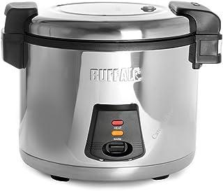 Buffalo J300 Cuiseur vapeur électrique pour riz 6 l 345 x 460 x 400 mm Argenté
