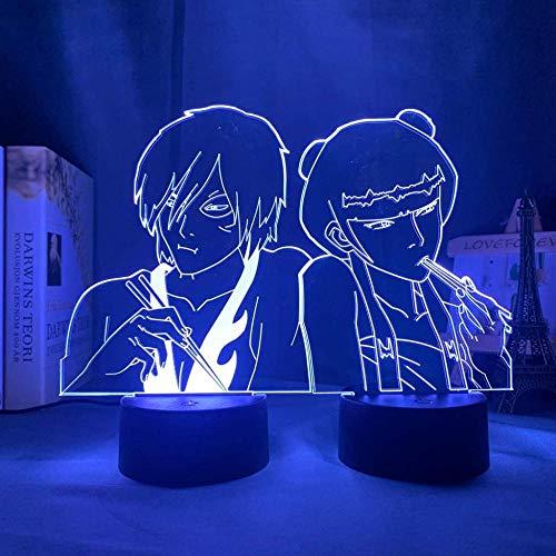 A-Generic Lámpara de Flash automático con Base remota táctil portátil de luz Nocturna 3D, lámpara de Mesa con gradiente de 16 Colores, Ventiladores, decoración para Regalo de cumpleaños