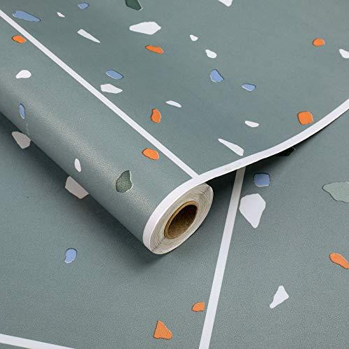 2 Rollen Bodenbelag selbstklebend PVC Belag Folie 60x500cm Vinyl Bodenschutz Klebefolie ca.3㎡/Rolle Matt Flisenaufkleber Folie Stärke 0,35mm (Fliese-Grau)