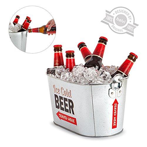 Balvi, Secchiello per Birre in Metallo, Adatto a Feste