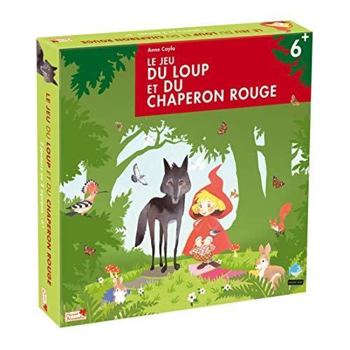 LE JEU DU LOUP ET DU CHAPERON ROUGE - jeu de société dès 6 ans - 2 joueurs - Qui du loup ou du Chaperon Rouge arrivera en premier chez Mère-Grand ? Pièces en bois épais.