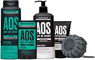 Sponsored Ad - Art of Sport Victory Bestsellers Kit, 5pc Men's Daily Essential Body Care Gift Set with Aluminum-Free Deodo...