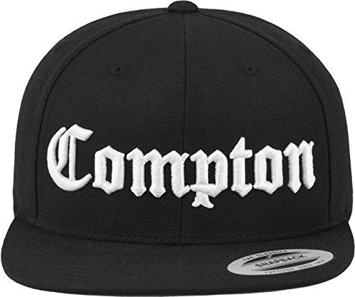 Mister Tee Cap-Gorra de Compton Negro Negro Talla:Talla única