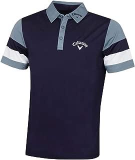 Callaway Mens Colourblock Left Chest Logo Opti-Dri Pique Golf Polo Shirt