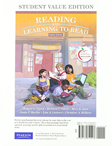 Reading and Learning to Read: Student Value Edition