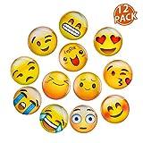 Lesfit 12 Stücke Emoji Magnete Kühlschrankmagnete Magnete Kinder 3D Witzig für Kühlschrank...