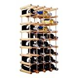 COSTWAY Traditional Wine Rack, 40 Bottle Capacity Wine Organiser Display Shelf, Free Standing Drink Storage Holder Stand for Home Bar Pantry