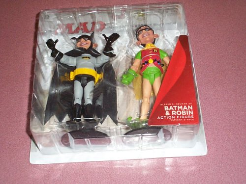 MAD Just-Us League of stupid heroes Batman & Robin figures comic con 2012 exclusive two pack