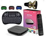 Formuler Gtv Certified Android Tv 9.0 + Bluetooth Remote Control + Extra 3 Colours Wireless Keyboard + Extra Magnetic Phone Car