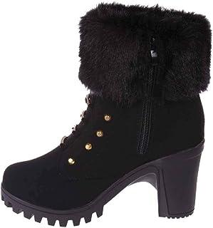 Dameslaarzen, winter, hoge hakken, katoenen schoenen, warm gevoerd, modieus, casual, comfortabel, antislip, sneeuwlaarzen,...