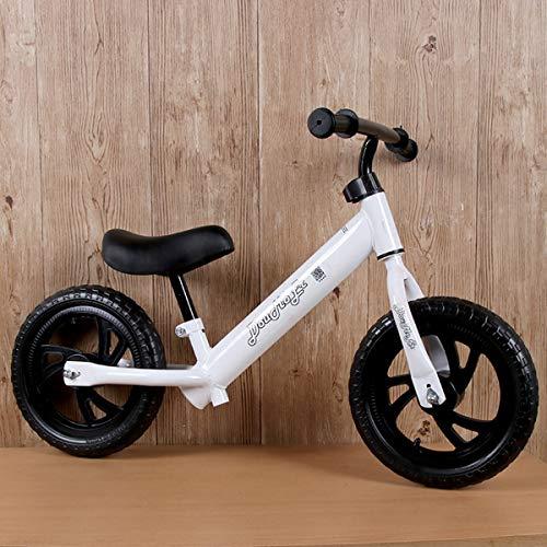 Ultra-Light Balance Bike da 18 Mesi a 5 Anni Super Sport Push Bicycle - I Bambini EI Bambini saltano i tricicli sulla Prima Bici più Leggera per Bambini,White