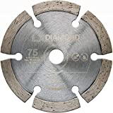 LXDIAMOND Disco de corte de diamante de 75 mm x 10 mm, para hormigón, ladrillo, universal, compatible con Bosch GWS 12 V, amoladora angular con batería profesional de 76 mm