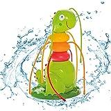 FROGBRO Aspersor de agua para niños, aspersor de jardín con 6 mangueras, juguete de agua para niños, aspersor de jardín para verano al aire libre, patio trasero, césped, juegos al aire libre, jardín