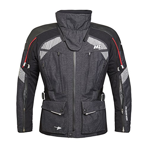 Hein Gericke Tripmaster Sympatex® Jacke grau/schwarz 50 - Motorradjacke