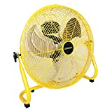 Stanley 20 Inch Industrial High Velocity Floor Fan - Direct Drive, All-Metal Construction, 3 Speed Settings, Portable (ST-20F)